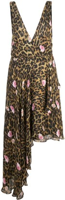 Nicole Miller sleeveless leopard print dress