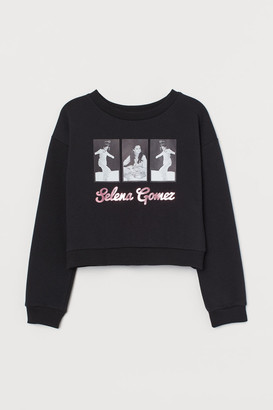 H&M Printed Sweatshirt - Black