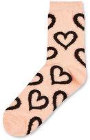 Topshop Fluffy Hearts Ankle Socks