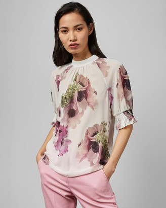 Ted Baker Neapolitan Puff Sleeve Top