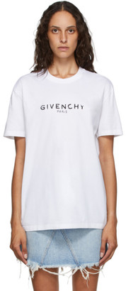 Givenchy White Masculine Paris Logo T-Shirt