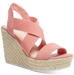 Madden-Girl Rosewod Stretch Platform Wedge Sandals