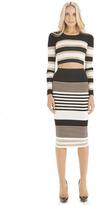 Torn By Ronny Kobo Ronny Skirt Stripes