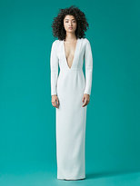 Diane von Furstenberg V-Neck Tailored Gown