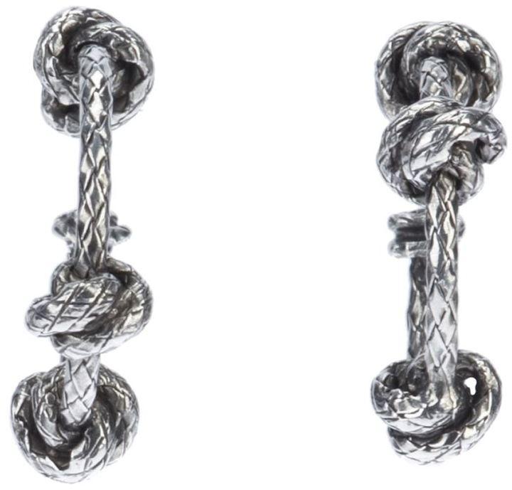 Bottega Veneta knot pendant earrings