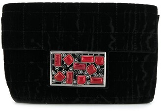 Chanel Pre Owned Embellished Plaque Clutch