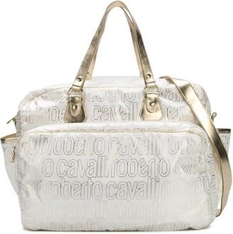 Roberto Cavalli Junior Logo Print Changing Bag