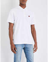 Obey Rose-embroidered Cotton Polo Shirt