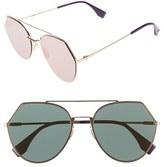 Fendi Women's Eyeline 55Mm Sunglasses - Gold Copper