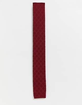 Ben Sherman knitted tie-Red