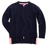 Aqua Girls' High Low Cashmere Pullover Sweater, Big Kid - 100% Exclusive