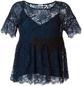 P.A.R.O.S.H. embroidered lace blouse - women - Cotton/Polyamide/Polyester/Viscose - XS