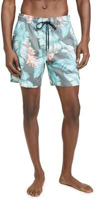 RVCA Benson Floral 17 Elastic Swim Shorts