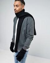 Adidas Originals Scarf And Glove Set In Black Ay9041