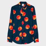 Paul Smith Men's Slim-Fit Navy 'Peaches' Print Lightweight-Cotton Shirt