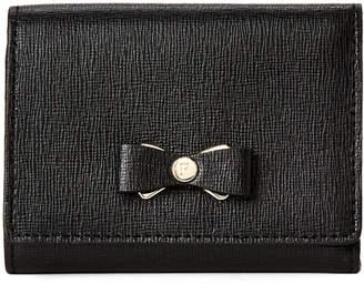 Furla Black Glenda Leather Trifold Wallet