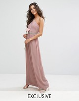 TFNC WEDDING One Shoulder Embellished Maxi Dress