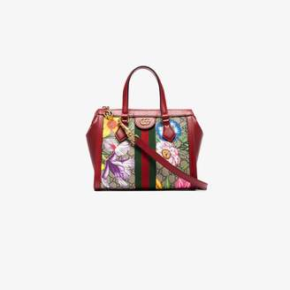Gucci Multicoloured Ophidia floral monogram mini tote bag