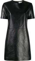 Saint Laurent leather T-shirt dress