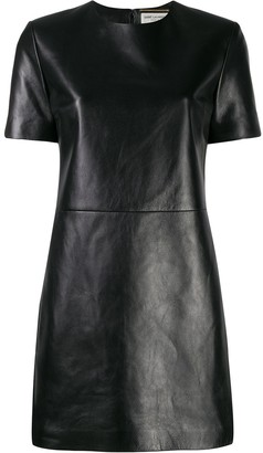 Saint Laurent leather T-shirt dress