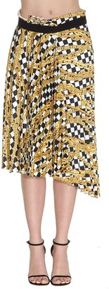 Balenciaga Pleated Printed Skirt