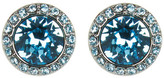 Givenchy Swarovski Crystal Accented Button Stud Earrings