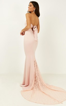Showpo Always Will Love You Dress in blush - 6 (XS) Bridesmaid