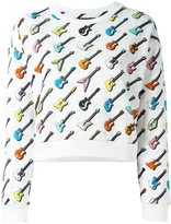 Jeremy Scott guitar print sweatshirt