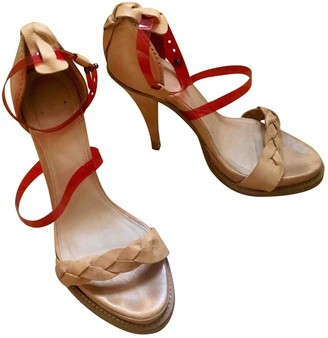 Acne Studios Beige Leather Sandals