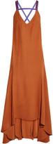 Roksanda Avalon Open-back Asymmetric Crepe Dress - Tan