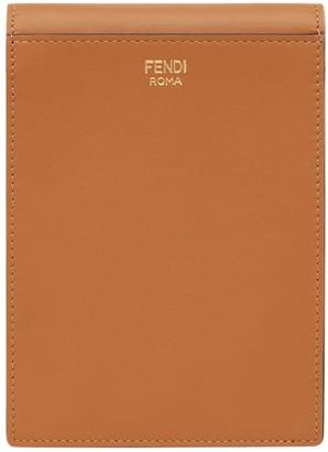 Fendi Vertical Wallet On Chain Bag Brown