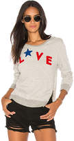 Sundry Love Sweatshirt in Gray. - size 0 / XS (also in 1 / S,2 / M,3 / L)