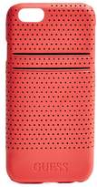 GUESS Men's Red Perforated iPhone 6 Hard-Shell Case