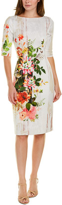 Teri Jon By Rickie Freeman Elbow-Sleeve Mini Dress