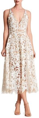Dress the Population Blair Sleeveless Sequin Lace Midi Dress
