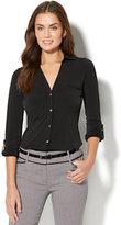 New York & Co. 7th Avenue - 3/4-Sleeve Knit Shirt