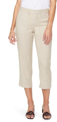 NYDJ Utility Crop Linen Blend Pants
