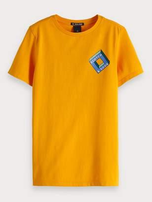 Scotch & Soda Logo Artwork Crew Neck T-Shirt