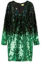 H&M Sequined Dress - Black/green - Ladies