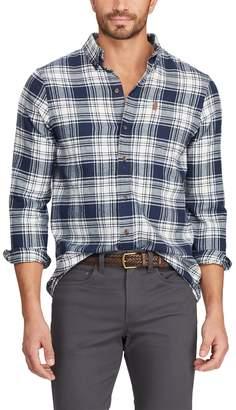 Chaps Men's Classic-Fit Performance Flannel Button-Down Shirt