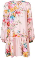No.21 flower dress with long sleeves - women - Silk - 42