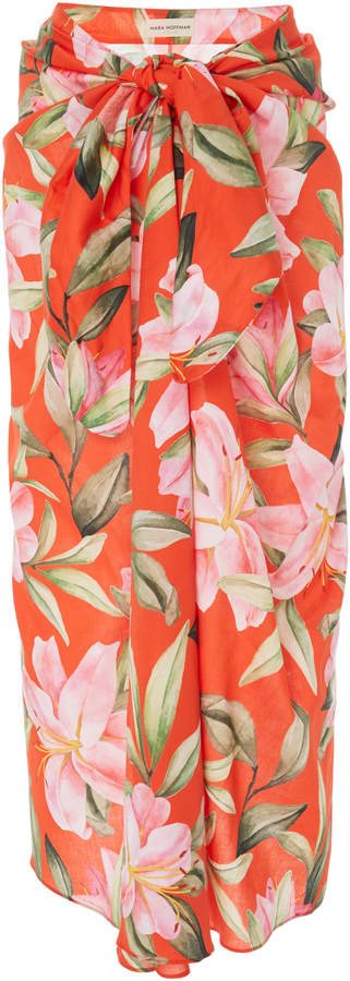 Mara Hoffman Izzi Floral-Print Cotton Pareo