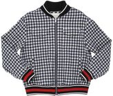 Gucci Cotton Seersucker Bomber Jacket