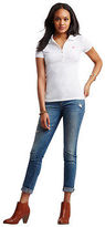 Aeropostale Womens A87 Piqu? Polo Shirt White