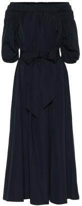 Gabriela Hearst Galatea off-shoulder maxi dress