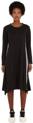 Y-3 Signature Long Cotton Jersey Dress
