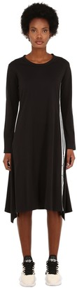 Y-3 Y 3 Signature Long Cotton Jersey Dress