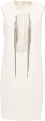 Stella McCartney Marissa Bead-embellished Stretch-cady Mini Dress