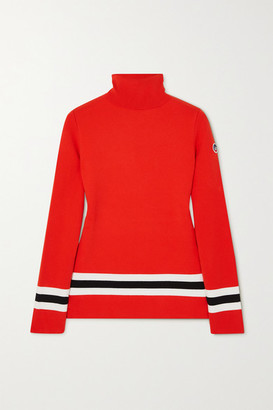 Fusalp Judith Striped Knitted Turtleneck Sweater - Red