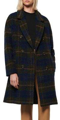 Andrew Marc The Portmore Plaid Wool-Blend Coat